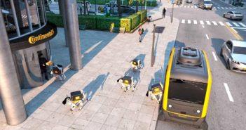 Continental demonstrates autonomous delivery robots at CES 2019
