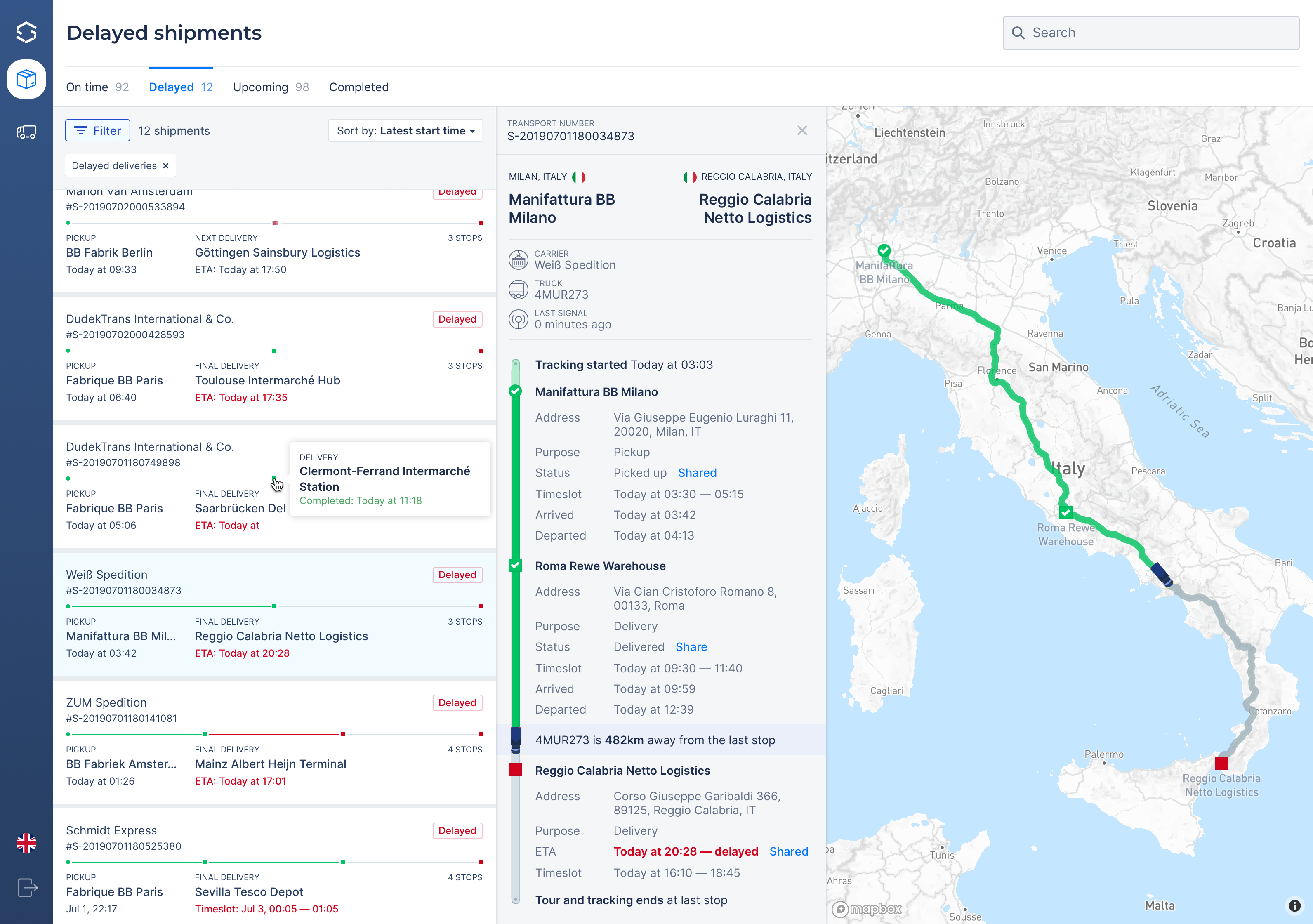 Demand for real-time data visibility in the logistics sector