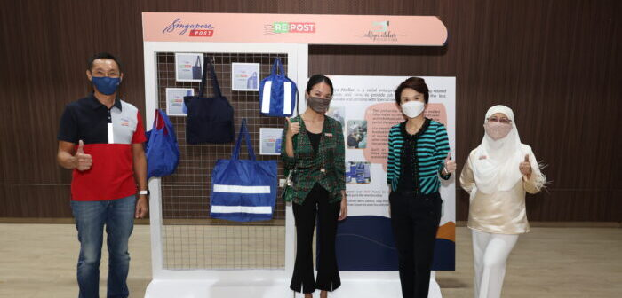SingPost launches upcycling initiative for discarded blue uniforms